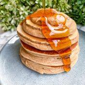 Easy Banana Protein Pancakes (Made In The Blender!)