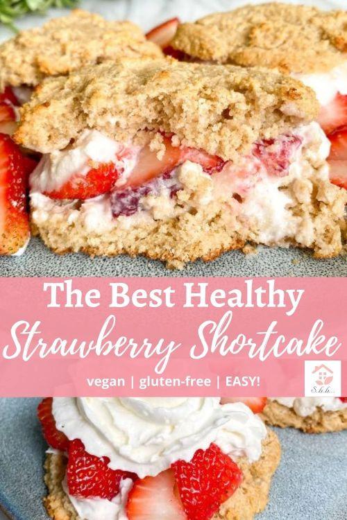 healthy strawberry shortcake pinterest pin