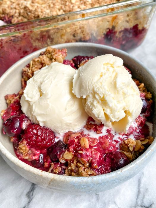 best healthy berry crisp recipe