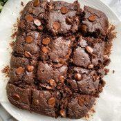 Healthy Zucchini Brownies (Super Fudgy + Vegan!)