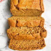 Gluten-Free Pumpkin Bread (One Bowl + Naturally Sweetened!)